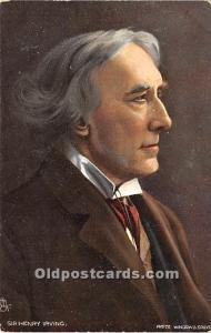 Sir Henry Irving Photo Window and Grove Theater Actor / Actress Unused
