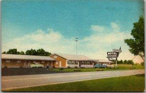 Trenton, Tennessee Postcard TRENTON MOTEL Restaurant Route 45 Roadside 1961