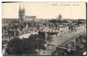 Old Postcard Angers General view