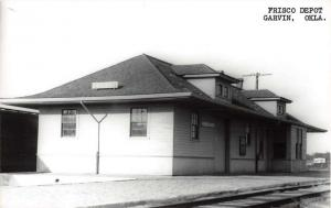 Garvin Oklahoma Frisco train depot real photo pc Z30244