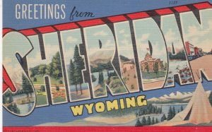 Large Letter SHERIDAN, Wyoming, 30-40s