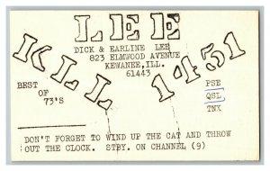 QSL Radio Card From Kewanee ILL Illinois KLL 1451
