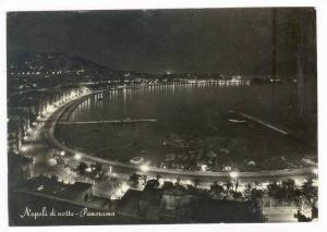 RP  Napoli di notte - Panorama, Italy, PU-1957