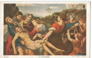 The Deposition, Raphael, early 1900s unused Postcard