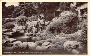 Waterfall in The Shrubbery Southend on Sea