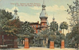 TAMPA FLORIDA~GATEWAY & MAIN ENTRANCE TO CITY PARK & BAY HOTEL~1910 POSTCARDS