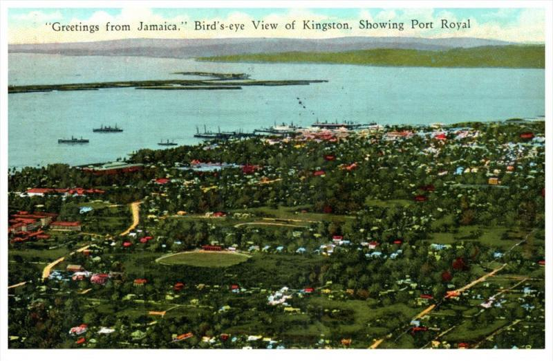 21861   Aerial View of Kingston. Port Royal  Jamaica