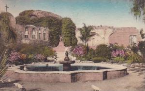 Old Fountain Front Garden Old Mission San Juan Capistrano California Albertyp...
