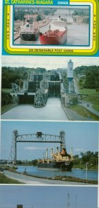 Welland Ship Canal , Ontario , 1950s ;  6 detachable Postcards