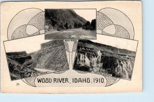 WOOD RIVER, Idaho  ID   MALAD CANYON, Thousand Springs  Oregon Trail Postcard