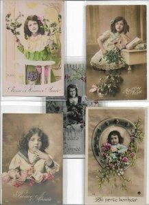Beautiful Kids RPPC Postcard Lot of 10 01.10