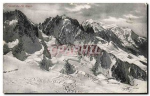 Old Postcard From Mont Blanc Massif