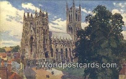 Cathedral SW Canterbury England, United Kingdon of Great Britain Unused