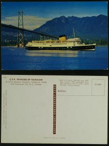 CPR Princess of Nanaimo Car & Passenger Ferry c 1950s
