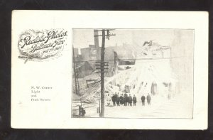 BALTIMORE MARYLAND DOWNTOWN 1904 FIRE DISATER LIGHT & PRATT STREETS POSTCARD