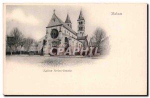 Melun - L & # 39Eglise Notre Dame - Old Postcard