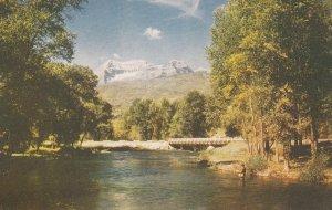 Bridge & Mount Timpanogos , SALT LAKE CITY , Utah , 50-60s