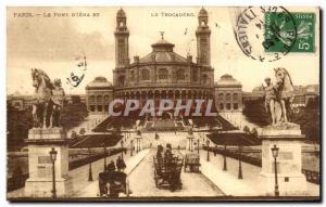 Paris Old Postcard The bridge & # 39iena and Trocadero