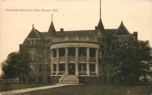 c1910 Postcard Industrial School for Girls Geneva NE Reformatory Fillmore County