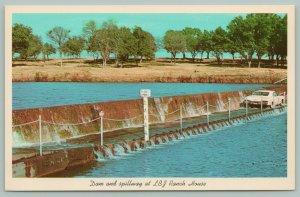 Stonewall Texas~National Historical Park~LBJ Ranch House~Dam & Spillway~Postcard