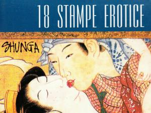 Postcards folder 18 unposted pcs. Erotic Shunga Japan Love Fantasy Caricatures