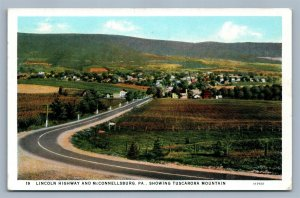 McCONNELLSBURG PA LINCOLN HIGHWAY ANTIQUE POSTCARD