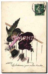 Old Postcard Fantasy Illustrator Roberty stanchion Female Hat