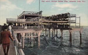 New Jersey Atlantic City Net Haul At Million Dollar Pier
