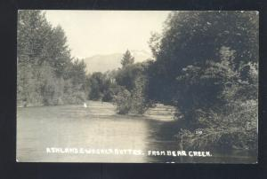 RPPC ASHLAND OREGON BEAR CREEK WAGNER BUTTE VINTAGE REAL PHOTO POSTCARD