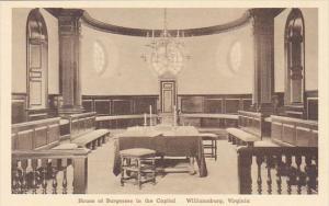 House Of Burgesses In The Capitol Williamburg Virginia