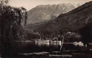 Queenstown, New Zealand, Early Real Photo Postcard, Unused