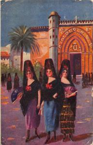 Visitando Sagrarios Manuel Barreiro Sevilla Postcard