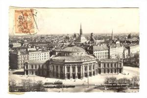 RP;  Wien , Austria, PU-1955 ; Panorama mit Burg theater