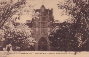 Rhode Island Providence Entrance To Harkins Hall Providence College