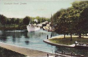 Ship, Trollhatte Canal, Sweden, 1900-1910s