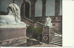 Boston, Mass., St. Gauden's Lions, Public Library