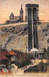 France Marseille, Les Ascenseurs et Notre-Dame de la Garde 1920