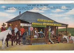 P1775 vintage Texas Langtry Judge Roy Bean Court Law West of the Pecos
