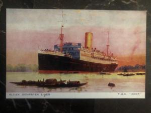 Mint England Picture Postcard TMS Adda Passenger Ship Elder Dempster Lines