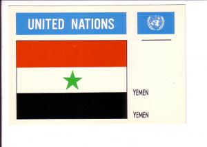 Yemen, Flag, United Nations,
