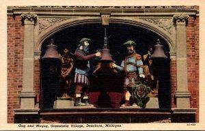 Michigan Dearborn Greenfield Village Gog and Magog Curteich