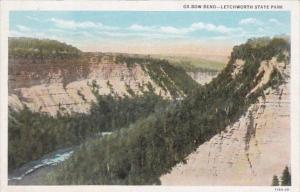 New York Letchworth State Park Ox Bow Bend Curteich