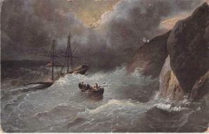 Ivan Aivazovsky, Russia Painter, Thunderstorm Vintage Art Postcard