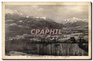 Postcard Old Barcelonnette Vue Generale