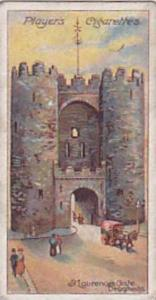 Player Vintage Cigarette Card Celebrated Gateways 1909 No 42 St Laurences Gat...