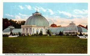 Michigan Detroit Belle Isle Horticultural Building Curteich