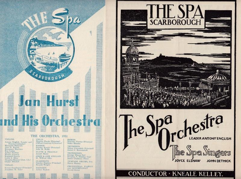 The Spa Scarborough Orchestra Pair Of Old Variety Show  Theatre Programme s