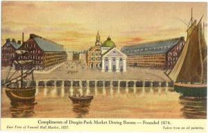 Painting Compliments of Durgin-Park Market Dining Rooms, Boston MA Linen