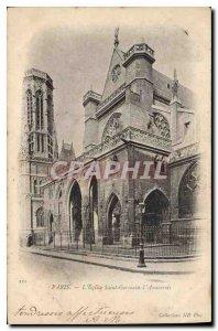 Old Postcard Paris Church Saint Germain Auxerrois