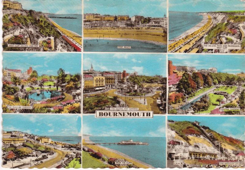 Post Card Dorset Bournemouth 9 views